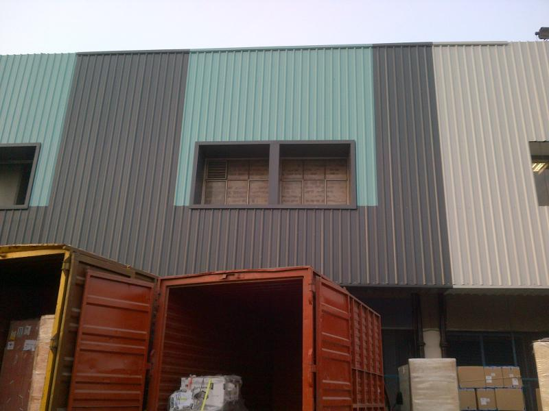 Facade Work at International Cargo